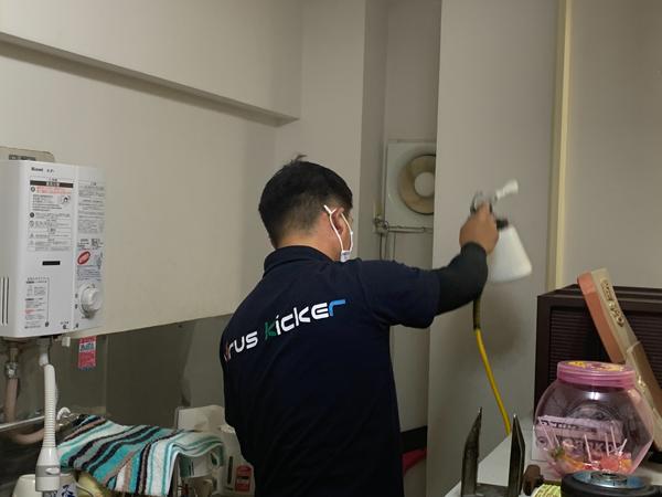 キッチンのハウスクリーニング&光触媒抗菌コーティング
